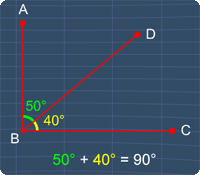 complementary angles is a special case of adjacent angles