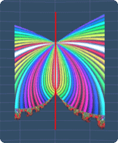 line symmetry for a fractal picture