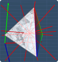 All 7 axes for a tetrahedron