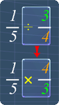 convert fraction division to fraction multiplication