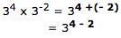 3^ (4 - 2)