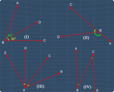 identify all the adjacent angles