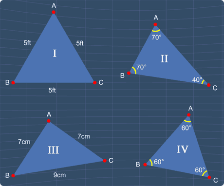 identify all the equilateral triangles