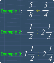 dividing fractions examples