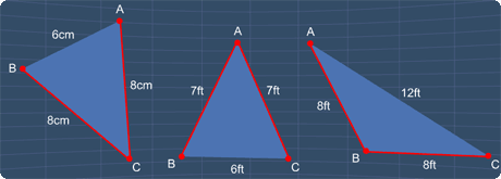 examples of isosceles triangles