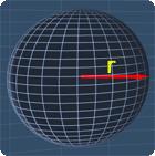 sphere with the radius r