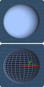 a sphere with the radius r