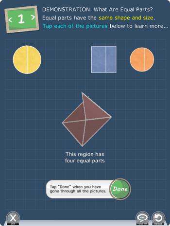Understanding fractions app Picture 1