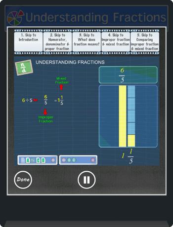 Understanding fractions app Picture 4