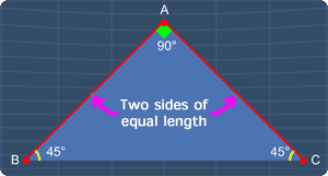 a right triangle can also be an isosceles triangle